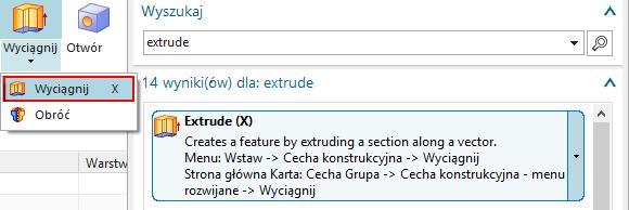 Dodatkowy język w wyszukiwarce poleceń
