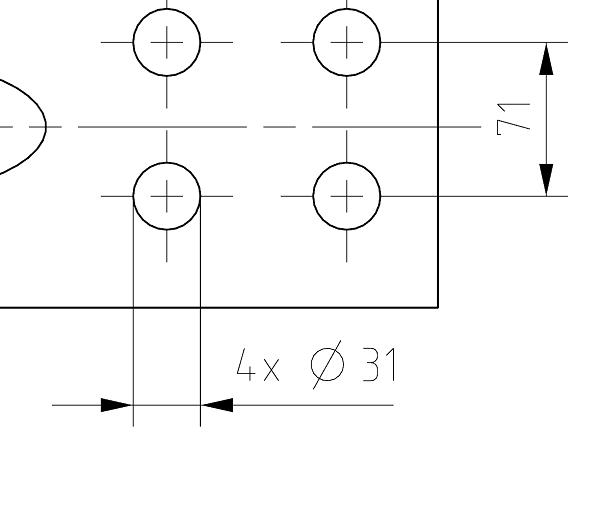 Automatyczne wyświetlanie liczby otworów w wymiarze na dokumentacji płaskiej