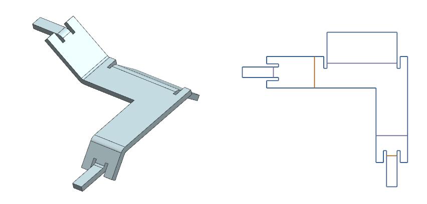 Rozwinięcie blachy i eksport rozwinięcia blachy do pliku .DXF