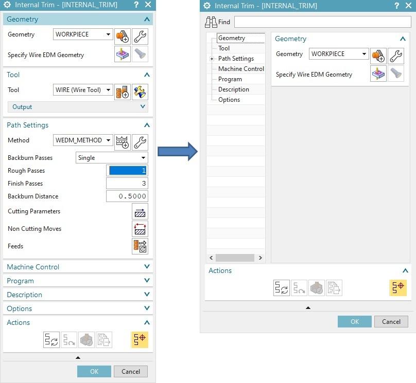 Konwertowanie szablonu WEDM do nowej wersji interfejsu NX1899
