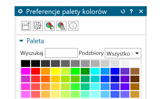 Tworzenie własnej palety kolorów